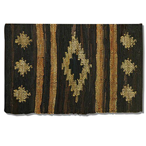 Best Kictchen Rugs | The Tamale Southwestern Leather Chindi Kitchen Rug Size 20 x 32 *** Find out more about the great product at the image link. Note:It is Affiliate Link to Amazon.