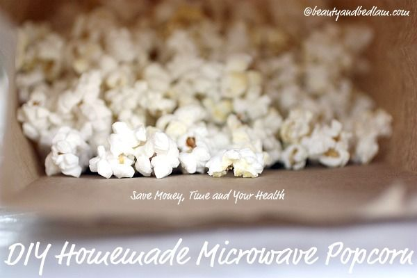 DIY Homemade Microwave Popcorn - healthy and fast  (Why Did We Wait?) This is the BEST Kitchen Tip and my kids LOVE it!