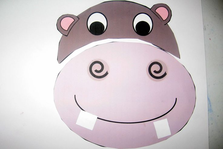 Preschool Summer Craft Projects | cut and paste hippo 300x200 Letter H Crafts