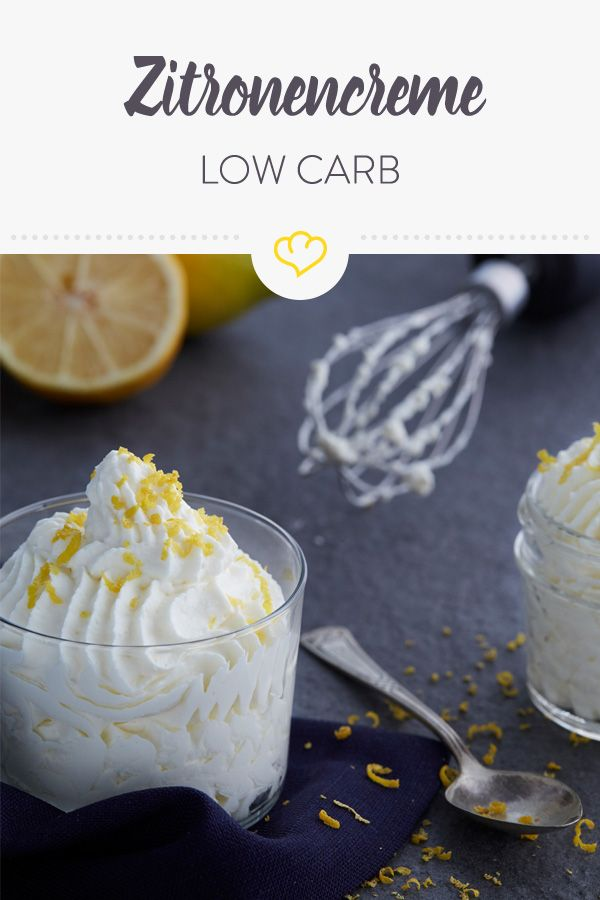 Light, tasty, low carb: sugar-free lemon cream