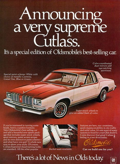 1978 Oldsmobile Cutlass Supreme....Had one of these. Mine was midnight blue. First car with all the extras!