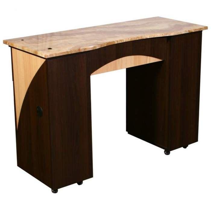 Edita B - Single Manicure Table - Full Marble Top by Deco Salon Furniture (FT504B)