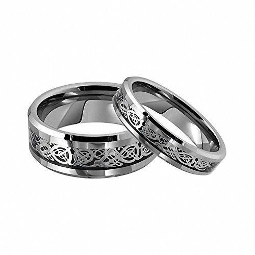 364 best tungsten Carbide wedding band ring set from tungstenjeweler