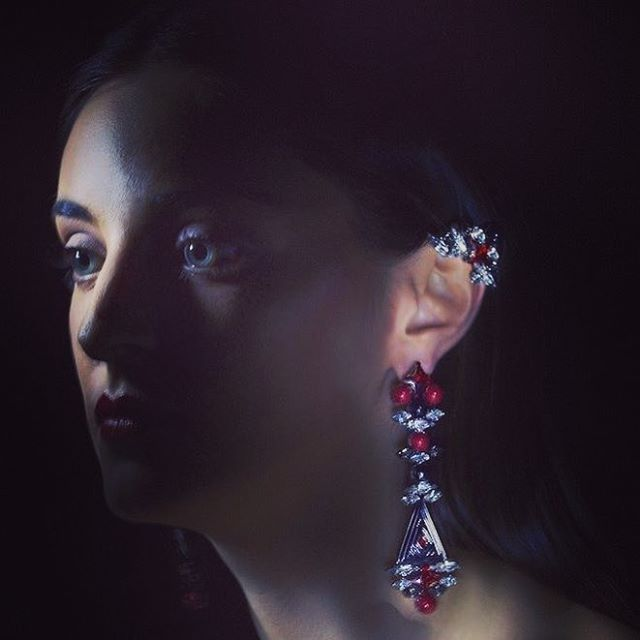 #FreyaEarrings #totem #collection #triaalfa #design #shoponline #createdwithswarovskicrystalsandpearls #readyfor2017 #thankyouformakinguspartofyourlife