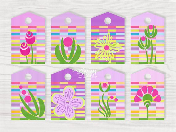 69 best printable cards and gift tags images on pinterest purple printable gift tags spring flowers perfect for mothers day or easter etsy or diy negle Image collections