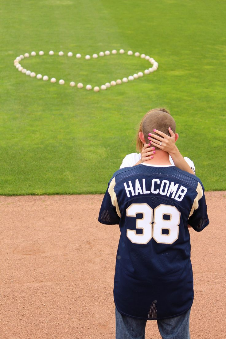Baseball Engagement Photo- Milwaukee Brewers, Steven Halcomb & Cacey Sanders June 2014- On 3 Photography, McAlester OK