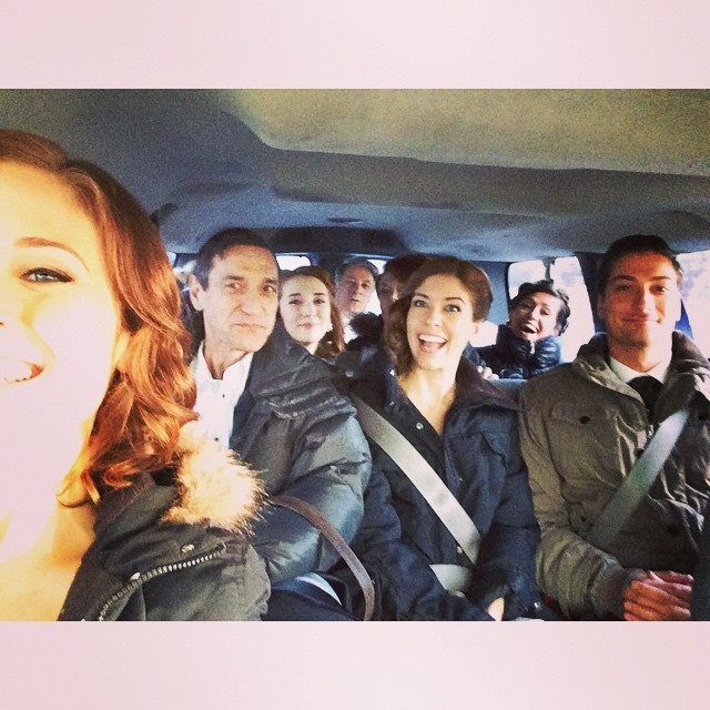 When Calls the Heart - Season 2 - (behind the scenes) The cast on their way to the filming set.