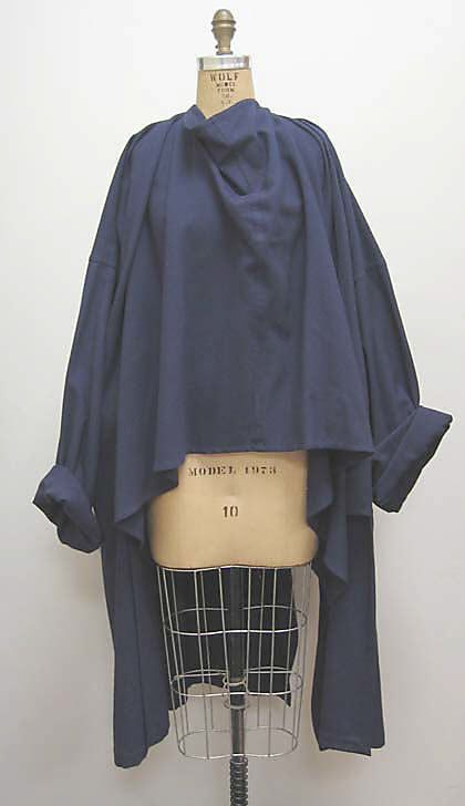 Jacket  Yohji Yamamoto  (Japanese, born 1943)  Date: fall/winter 1981–82   Culture: Japanese   Medium: wool