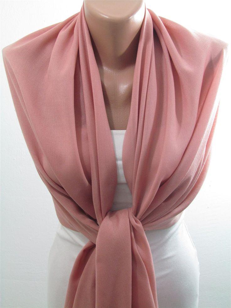 Pashmina Scarf Shawl Fall Winter Rose Pink Wedding Scarf  www.scarfclub.net