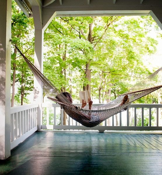 the good old-fashioned hammock is still a classic vehicle for alfresco sleeping. Easily set up on a porch, between two trees or on a stand, the easy breezy sling is synonymous with afternoon naps. Hammock pros suggest lying diagonally for the most comfortable horizontal snooze.