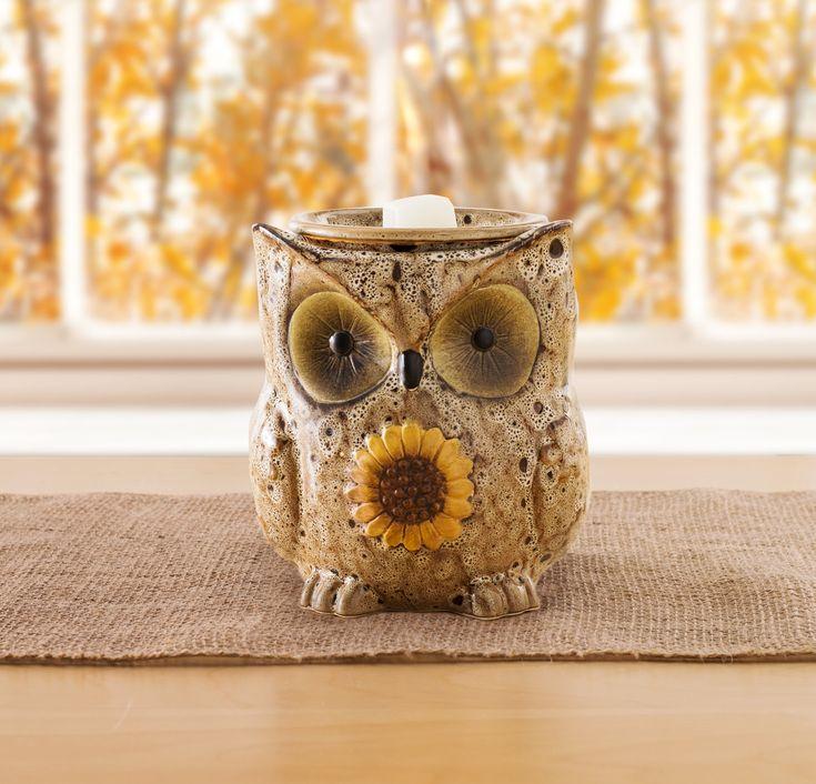 Sunflower Owl Warmer | Seasonal decor, Scentsy, Candles