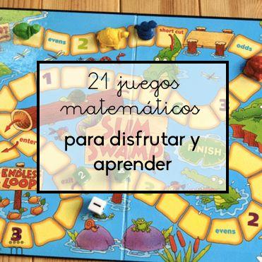 Te propongo 25 juegos matemáticos con los que los niños de todas las edades podrán aprender matemáticas jugando y pasándolo bien en vacaciones.