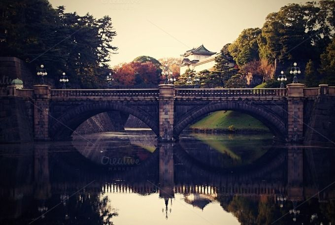 Stone Bridge in Tokyo by Traveling Lifestyle on Creative Market