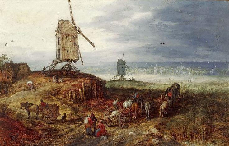 Пейзаж с мельницей. Ян Брейгель Старший