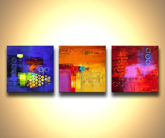 Original Contemporary modern Abstract Painting On by OsnatFineArt, $550.00