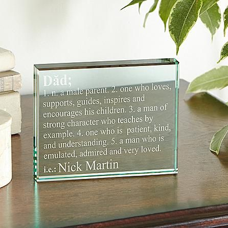 Define Him Glass Block   A Personal Creations Exclusive! He's the very definition of a great dad or grandpa—so never let him forget how awesome he truly is.  #Christmas #Christmas2016  #Xmas  #ILoveXmas  #XmasIsComming #Xmaslet  #Recipes #ChristmasDecoration #Christmastree #Christmassong  #Gifts  #ChristmasGifts  #ChristmasCountdown