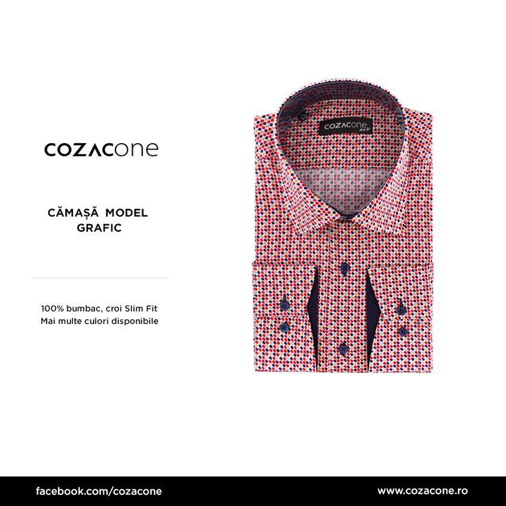 O cămaşă cu imprimeu grafic îţi prinde bine, pentru garderoba de vară. O găseşti aici: http://www.cozacone.ro/produse/detalii/camasa-model-grafic/
