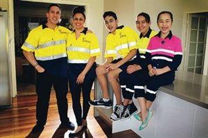 FIFO family Logan and Tania Noble with Tarquin, Alyshia and Marika. Picture: Marcelo Palacios