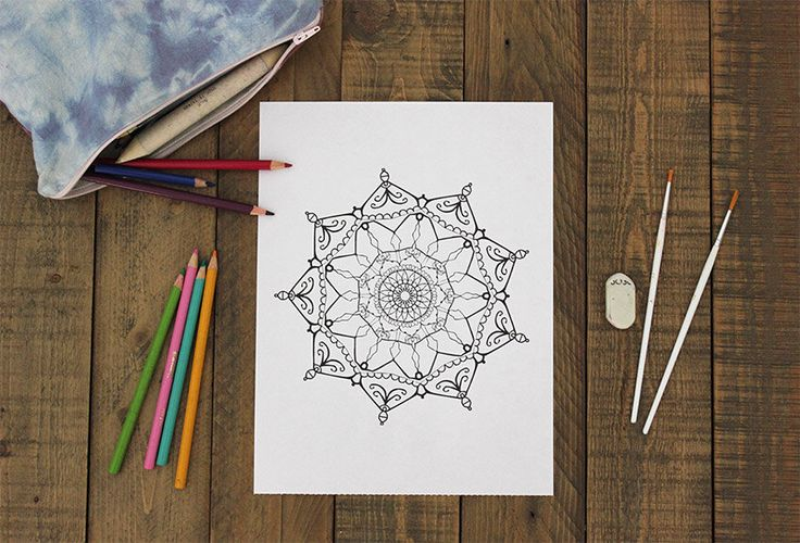 Mandala Coloring Sheet for Adults - Print at home Colouring page with Mandala Design by SeraphymArt on Etsy https://www.etsy.com/au/listing/507119005/mandala-coloring-sheet-for-adults-print