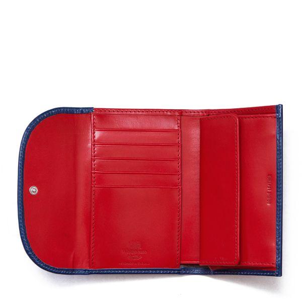 ホワイトハウスコックス | S7660 3FOLD WALLET / BRIDLE 2TONE (MARINE/RED)