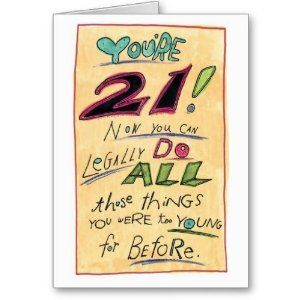 Amazon.com: Humorous Happy 21st Birthday Card Legally: Health & Personal Care
