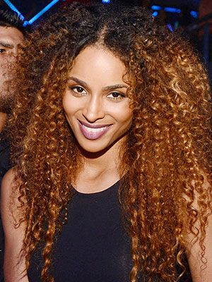 Ciara Natural Hairstyle Curly Hair Golden Blonde