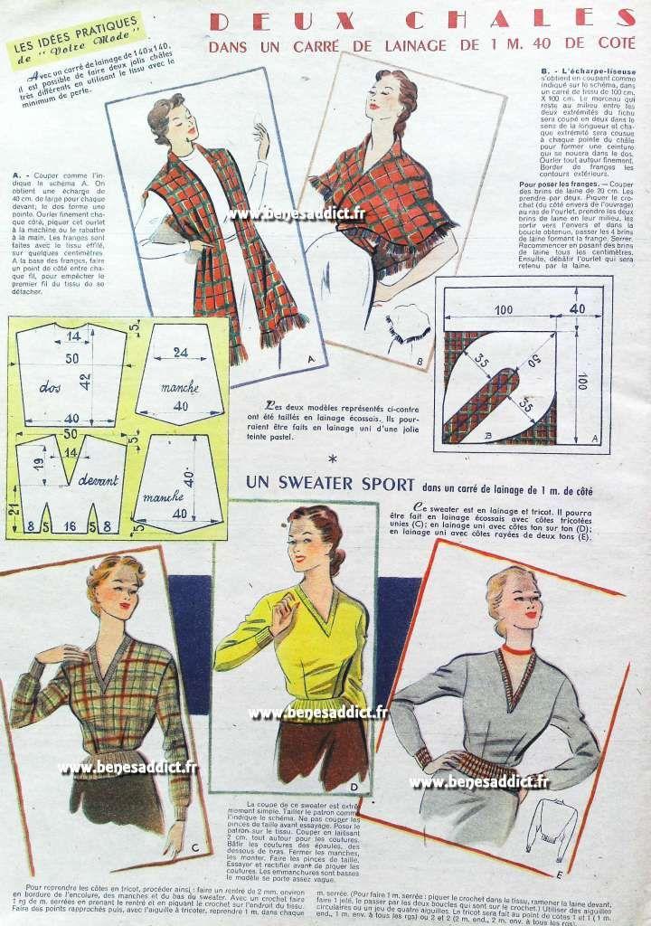 GRATUIT! 30 SUPERBES Patrons Couture Vintage de 1952 ! 50\'s | 50s y ...