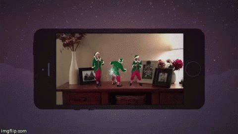 """Download the """"Santa Spy Cam"""" app. 