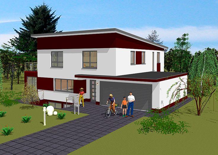 Hausbau ideen mit garage  Die besten 25+ Pultdachhaus Ideen auf Pinterest | Carport dach ...