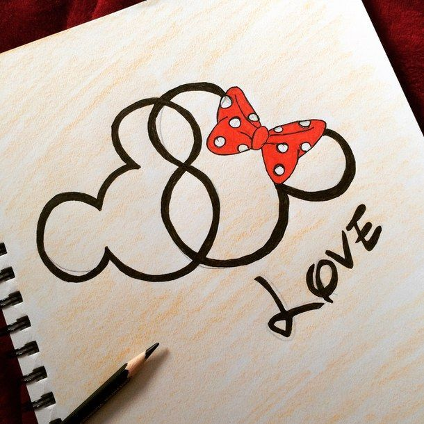 Drawn love simple - Pencil and in color ... | Disney ...