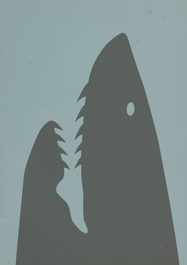#Get NEGATIVE Shark Week: Illustrations : Espace négatif / Negative space by Benjamin ALAZET, via Behance