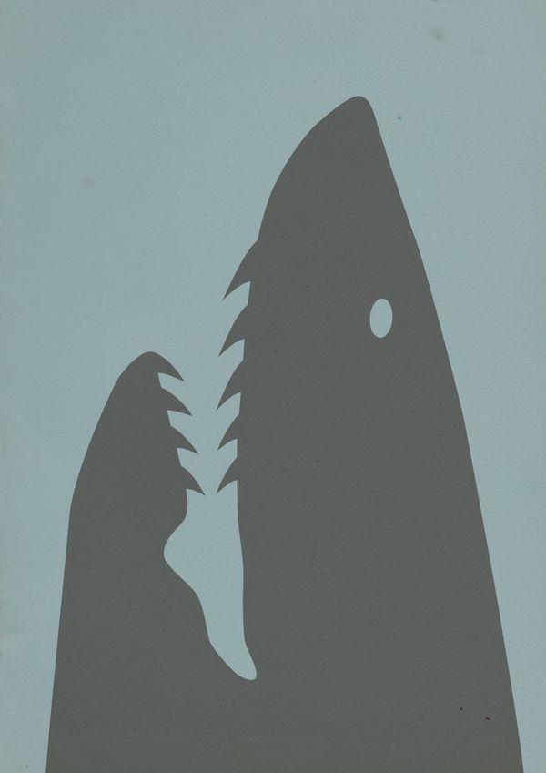#Get NEGATIVE Shark Week: Illustrations : Espace négatif / Negative space by Benjamin ALAZET, via Behance