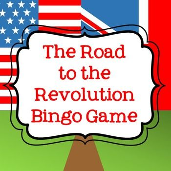 This is a bingo review game that covers topics related to the causes of the American Revolution. It is a great tool to use before a test or to check for understanding during an instructional unit on the causes of the Revolutionary War.   Included in this download is an instruction page for the teacher, a blank bingo board (with directions) for students, and a question/answer key for the teacher.