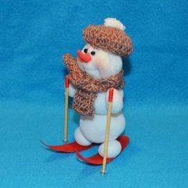 Снеговик из капрона | Куклы, Дед мороз, Поделки