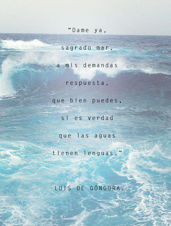 Luis de Góngora, Siglo de Oro, poesía en español, España, México, UNAM, mar, agua, lengua, respuesta