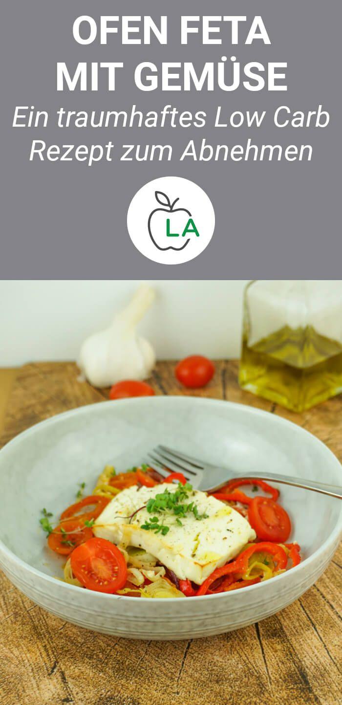 Queso feta al horno con verduras: receta vegetariana saludable y baja en carbohidratos   – Low  Carb