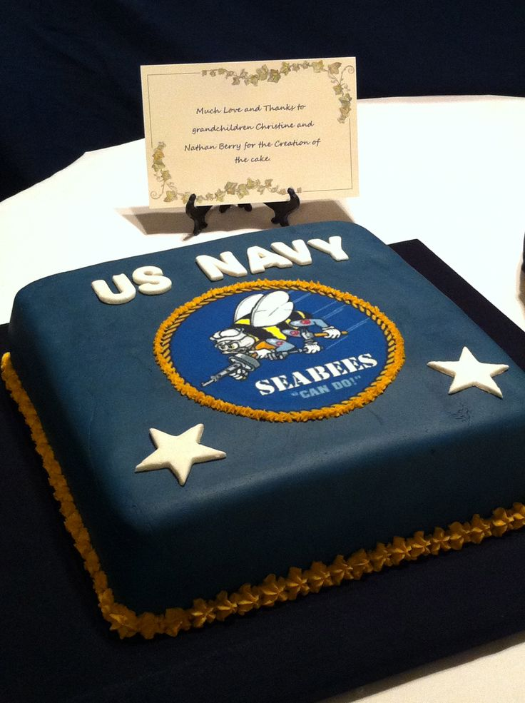 Navy Going Away Cake Ideas
