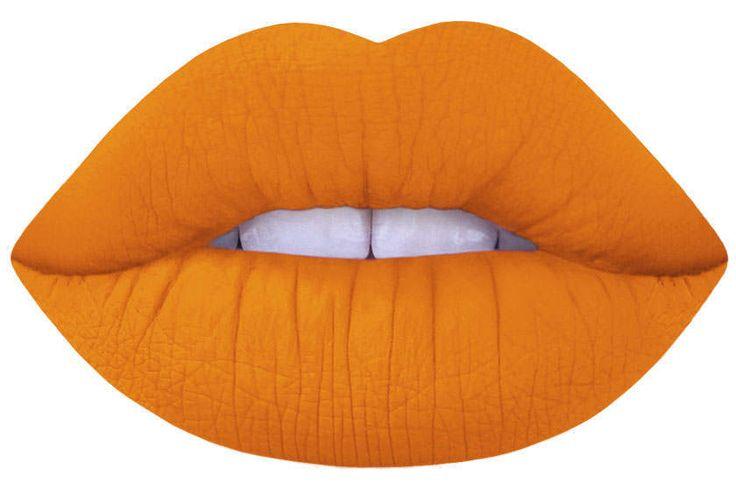 squash yellow orange matte liquid lipstick by Lime Crime