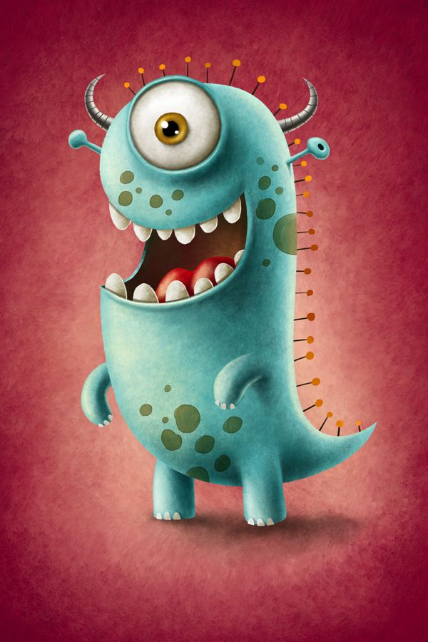 Monsters by Maciej Szymanowicz, via Behanceo