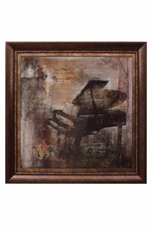 FP8686  Musique Concrete Textured Print With Gold Inner Frame And A Toffee 3in Outer Frame.  $119.95  Qty On Hand: 10+  Musique Concrete Textured Print With Gold Inner Frame And A Toffee 3in Outer Frame. Dimensions: H: 46 W: 46