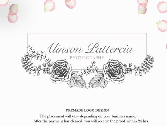Hand drawn sketched botanical flower Logo  by MachartMeister