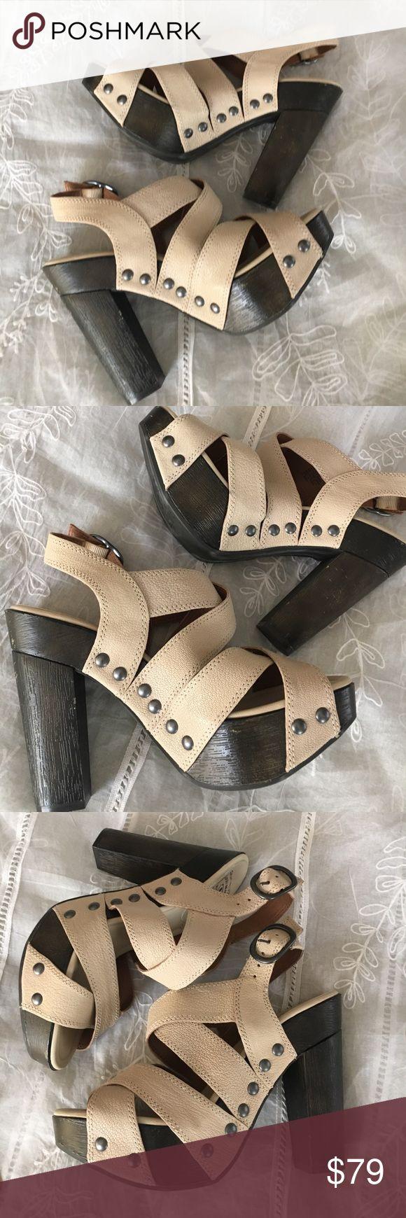 Lucky brand heels Lucky brand cream strappy heel Lucky Brand Shoes Heels