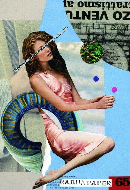 Dailycollage 20.Relex  / 20 Feb,16  #papercollage #collage #rabunpaper #collageart #vintage  #라분의페이퍼 #drawing #artwork #handmade #콜라주