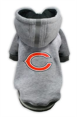 """BEAR Down Chicago!"" .....TOUCH DOWN! Official Chicago BEARS ""Helmet"" Hooded Sweatshirt in color Athletic Gray sizes S-XXXL (See Size Charts Below for Each Item) Chicago BEARS Dog Helmet Hoodie: - Cla"