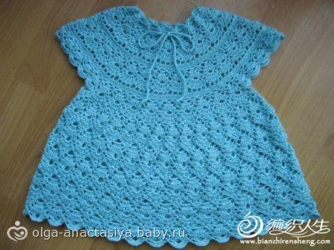 Связать летнее платье для малышки