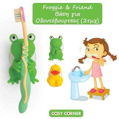 Το βούρτσισμα των δοντιών γίνεται τώρα ώρα διασκέδασης, χάρη στον Froggie και τον φίλο του! Τοποθετήστε αυτά τα γλύκα ζωάκια σε λεία επιφάνεια και σε σημείο όπου φτάνει το παιδί σας. http://goo.gl/ZRkPDt