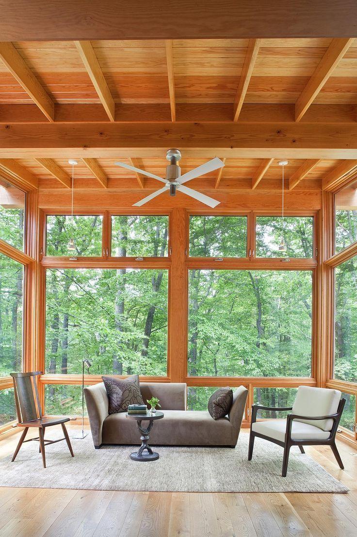 Pensi Outdoor Ceiling Fan By Modern Fan Co Pen Aa 52 Al Nl Rc In 2020 Sunroom Designs Porch Design Screened Porch Designs
