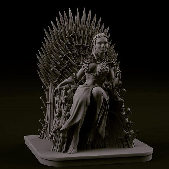 WEBSTA @crosslances Here is the sansa on the throne!  Made for a wacom contest, it will soon be available on our printable store!  Keep following us.