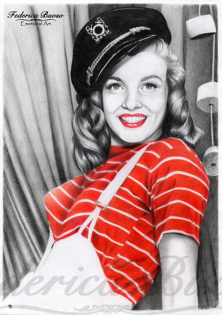 """""""Marilyn"""" - Matita e pastello su foglio A4"""