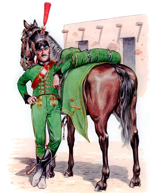 "Regno di Napoli -  ""Officer, Neapolitan Horse Artillery of the Line, 1808-14""   Mike Chappell"
